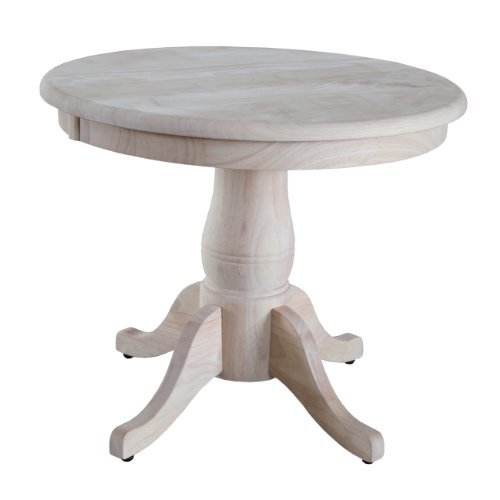 ts Round Pedestal Table, 22-Inch, Unfinished ()
