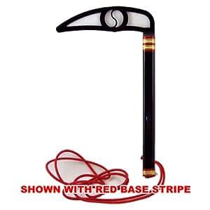 Black Blade - Classic Black Flying Kama - Karate Taekwondo (Black Base Stripe)