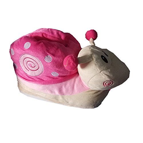 Pink Warm Plush Winter Snail Shoes Cartoon Soft Slipers Cute Slippers xrWrpCqw8n