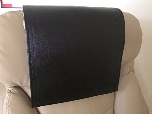 Buy black leather chair cover