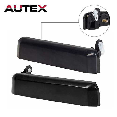 AUTEX Exterior Front Left Right Door Handles Driver + Passenger Side Compatible with 1987 1988 1989 1990 1991 1992 1993 1994 1995 Nissan Pathfinder Pickup Truck SUV 77219, (1991 Nissan Truck)