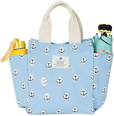 8151c0dd7fcd Lunch Bag Box Tote Handbag with Water Bottle Holder for Women Mom Snack  Bag(Flower Print) (blue clothes)