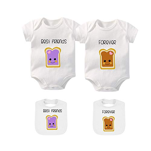 - YSCULBUTOL Baby Bodysuits for Unisex Boys Girls Long Sleeve Twin Clothes Boy Girl Perfect Together (White6, 6-9M)