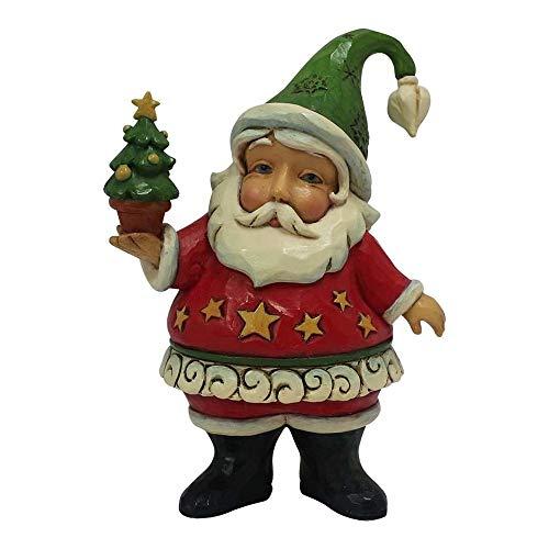 Enesco Jim Shore Heartwood Creek Mini Santa Holding Tree Stone Resin, 3.75 Figurine