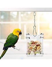 Papuga Foraging Zabawka Akrylowa Klatka dla ptaków Karmnik Wiszący Ptak inteligencja Wzrost Trening Zabawka dla Parakeet Cockatiel Conure Afrykański Szary Cockatoo