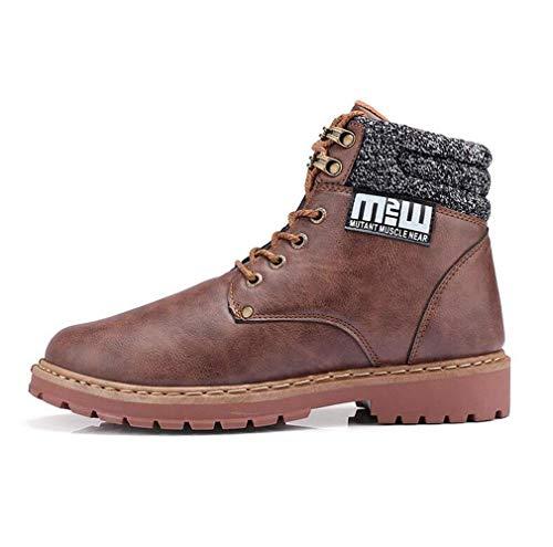 Marron amp;h Martins Haute Qualité Pour Bottes De Grande Pu Hommes Hommes Combat H Taille aFqO1Rxwnq