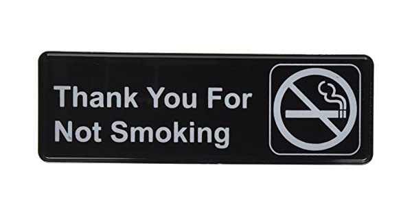 """FREE SHIPPING! New Smoking Permitted Sign rectangle 3/""""×9/"""" black"""