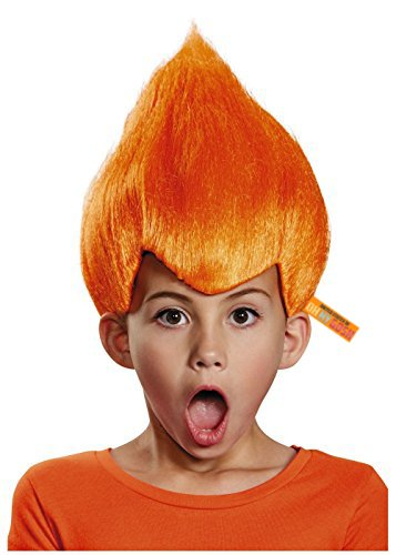 United States of Oh My Gosh Bright Colored Troll Costume Wig - 5 Colors Colored Troll Hair (Orange) ()
