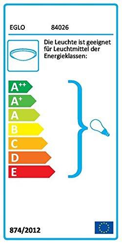 Cepillado, 1 bombilla s L/ámpara , 60 W, E27, IP20, Cromo EGLO 84026 iluminaci/ón de pared Apto para uso en interior Cromo E27 60 W