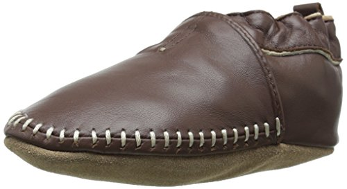 (Robeez Classic Moccasin Crib Shoe (Infant), Brown, 0-6 Months M US)