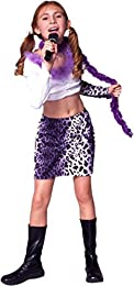 Child Purple Leopard Rock Star Girl Costume Size Youth Large 12-14  sc 1 st  Amazon.com : girls rock star costumes  - Germanpascual.Com