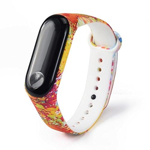 LANSKIRT Modelo de Moda TPU Correa de Reloj Pulsera Inteligente smartwatch Extensibles Pulsera para XiaoMi Mi Band 3: Amazon.es: Juguetes y juegos