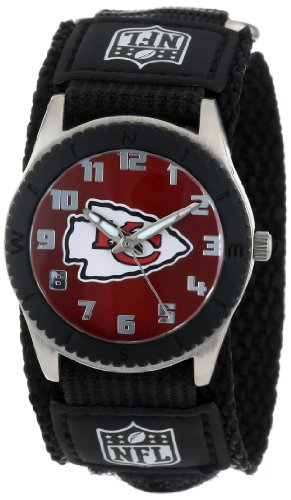 Game Time Youth NFL Rookie Black Watch - Kansas City Chiefs (Kansas City Pocket Watch)