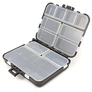 HuntGold 1X Waterproof Fishing Lure Tackle Hook Bait Storage Box Case With 26 Compartments