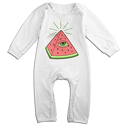 Greek Outfits For Boys (ZhoYHHeng Greek Watermelon Boy's & Girl's Long Sleeve Jumpsuit Outfits White 12 Months)