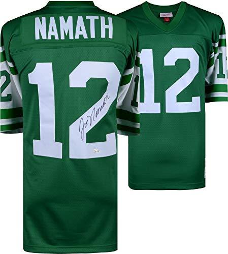 Joe Namath New York Jets Autographed Green Mitchell & Ness Replica Jersey - Fanatics Authentic Certified