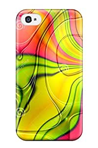 Awesome Funky Seventies Art Flip Case With Fashion Design For Iphone 4/4s