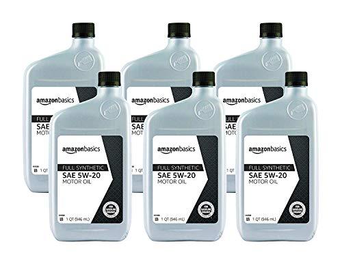 AmazonBasics Full Synthetic Motor Oil, SN Plus, 5W-20, 1 Quart, 6 Pack