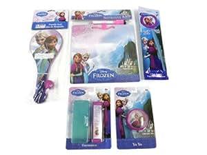 Disney Frozen Easter Basket Fillers Yo Yo, Glow Wand, Harmonica, Paddle Ball, Dry Erase Message Board Party Favors Elsa & Anna Bundle