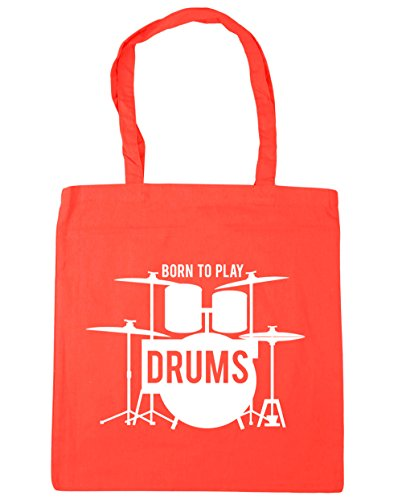Born x38cm Drums litres HippoWarehouse 10 Bag 42cm Tote Gym Coral Beach Shopping Play to dvvw7SqFH