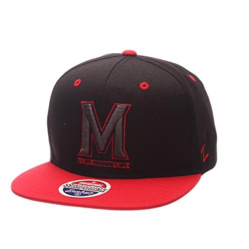 Zephyr NCAA Maryland Terrapins Adult Men's Z11 Phantom Snapback Hat, Adjustable Size, Black/Team Color (Zephyr Maryland Hat)
