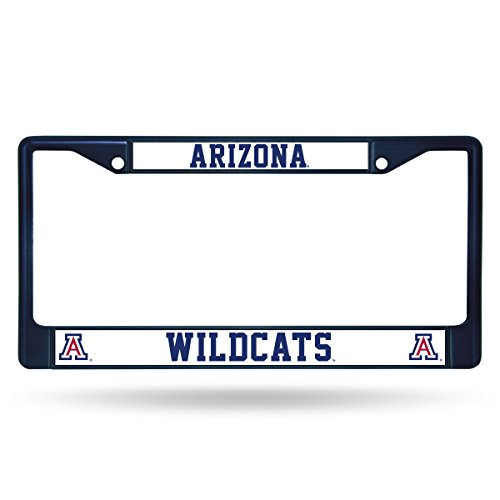 Rico Industries NCAA Arizona Wildcats Team Colored Chrome License Plate Frame, Navy