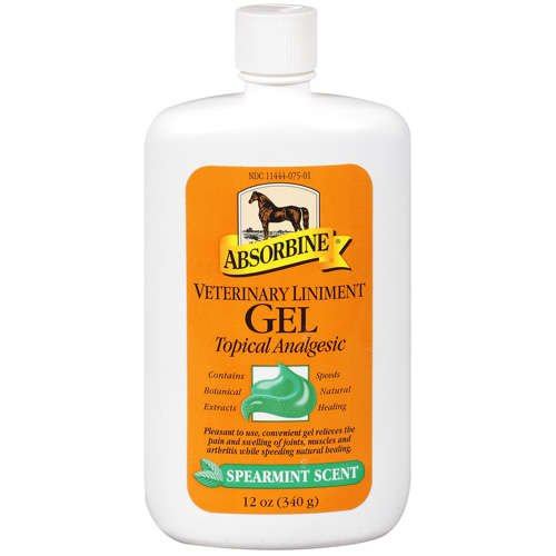 Absorbine Gel (Absorbine Veterinary Liniment Gel Topical Analgesic Sore Muscle and Joint Pain Relief)