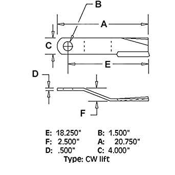 Amazon.com: 86665 New CW Lift Rotary Cutter Blade Made To Fit Bush