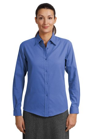 Port Authority Ladies Long Sleeve Easy Care Shirt (L608) Available in 27 Colors X-Large Court Green