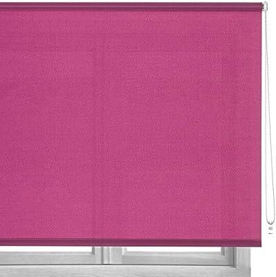 LOLAhome Estor Enrollable de Tela (140 x 180 cm, Rosa): Amazon.es ...