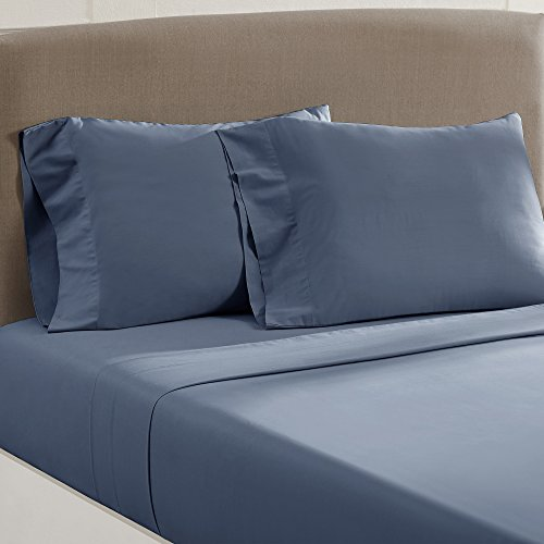 Amrapur Overseas Vintage Washed 100-Percent Cotton 4-Piece Sheet Set Dark Blue ()