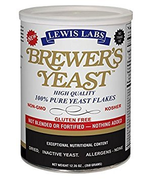 LEWIS LABS BREWERS YEAST FLAKES PURE, 12.35 OZ (2)