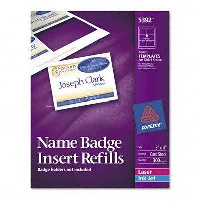 Wmu Laser Printer Name Badge Insert Refills 3 x 4 (Refill Badge Insert Plain)