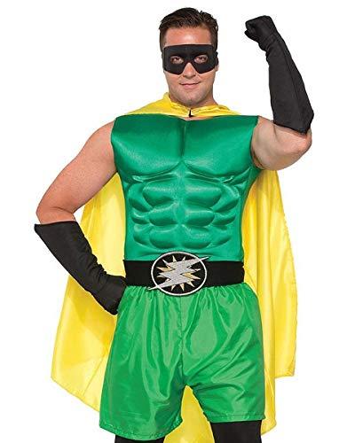 Forum Novelties Adult's Green Superhero Or Villain Muscle Chest Padded Shirt Costume Accessory