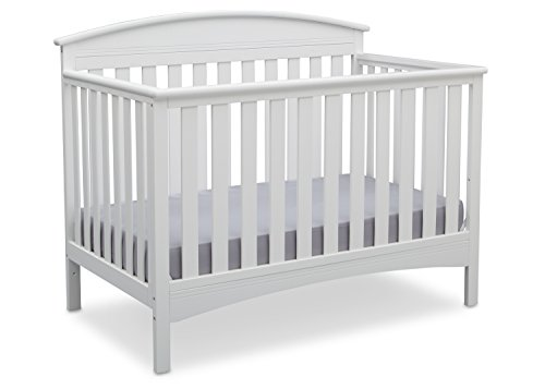 Delta Children Abby 4-in-1 Convertible Crib, Bianca, White