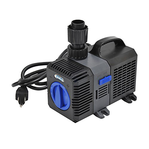 Pawhut 1375 GPH Adjustable Frequency Submersible Pond Pump Filter by PawHut