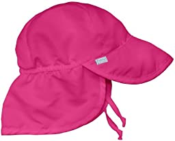 i play. Toddler Flap Sun Protection Swim Hat, Pink, 2T-4T