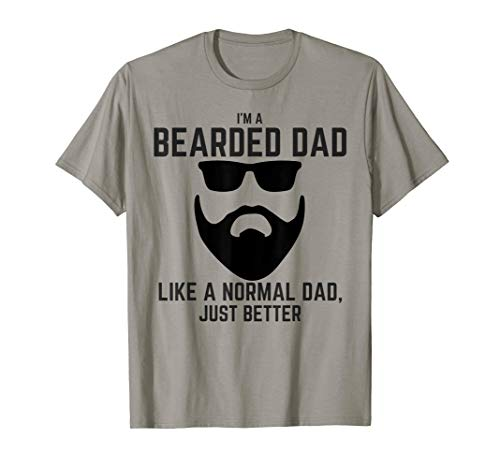 Mens Bearded Dad Shirt Mens Beard Humor Funny T-shirt Superhero