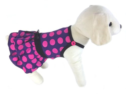 UP Collection Double Tier Skirt for Dogs, Hot Purple, Medium, My Pet Supplies