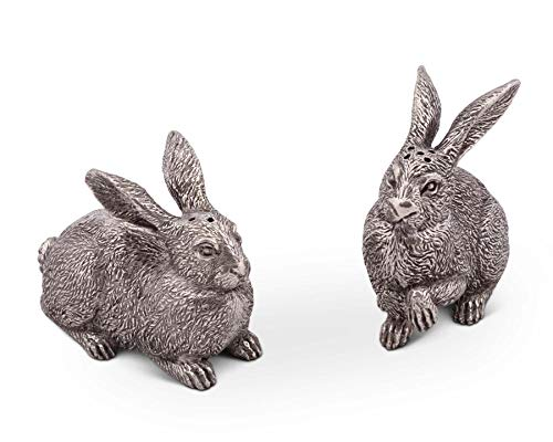 (Vagabond House Pewter Wild Hare/Rabbit Salt and Pepper Set 2.75