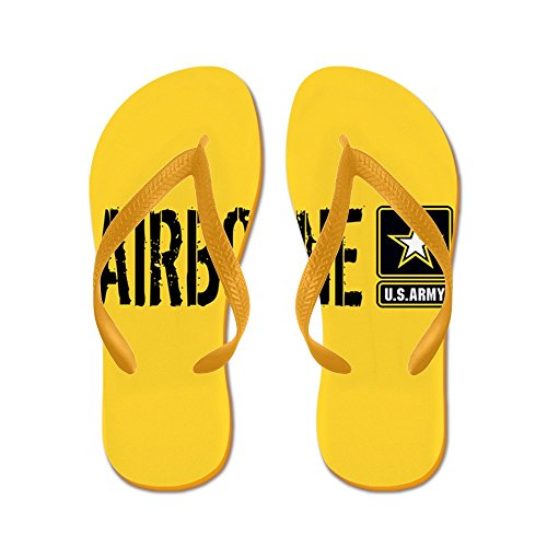 Esercito Militare: Airborne (oro) - Infradito, Sandali Infradito Divertenti, Sandali Da Spiaggia Arancione