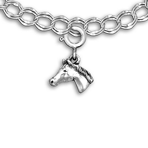 (The Magic Zoo Sterling Silver Quarter Horse Charm for Charm Bracelet)