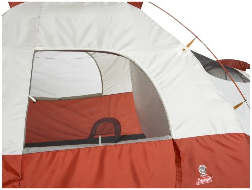 "Coleman 8-Person Red Canyon Tent,204"" L x 120"" W x 72"" H"