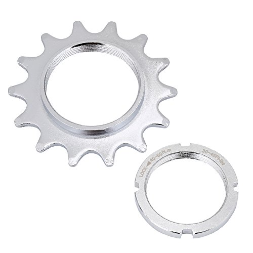 VGEBY Single Speed Freewheel, High Strength Steel Bicycle Flywheel Sprockets Parts for Fixed Gear Bike 13/14/15/16T(14T)