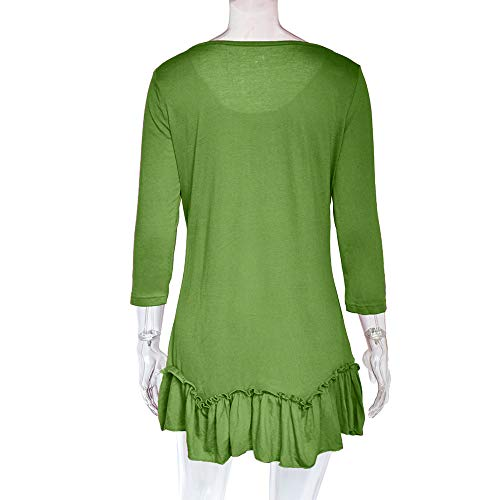 Manches Courtes Green Top DAYLIN Dcontract Col Chemisier V Solid Femme WYw1qfBw