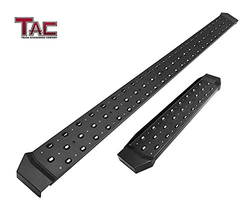"TAC 6.5"" Rattler Steel Running Boards for 2012-2018 Nissan NV 1500/2500/3500 Van (Full Size) Utility Black Side Step Nerf Bars Side Bars Rock Panel Off Road Exterior Accessories (2 PCS ()"
