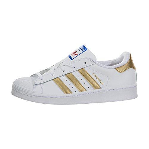 y para B39400 Talla Adidas dorado y Deportivas Hombre Dorado Superstar Zapatillas Hombre Blanco B39400 Blanco 10 B 5 I8aqxw8