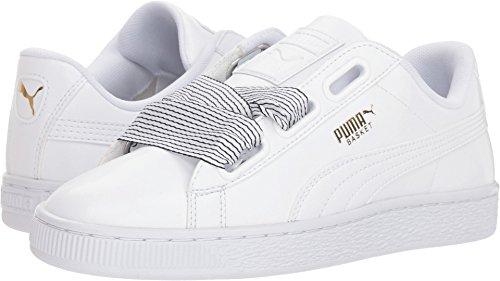 - PUMA Women's Basket Heart Wn Sneaker, White White, 7 M US