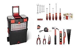 WOLFGANG® Carro de herramientas con ruedas completo | Juego de 40 | Trolley con kit