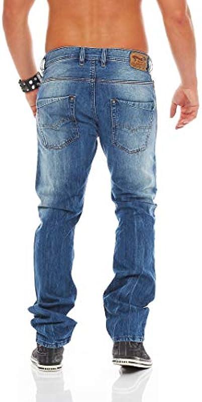 DIESEL dżinsy męskie Slim Leg krooley Wash 0r83p, kolor: niebieski: Odzież